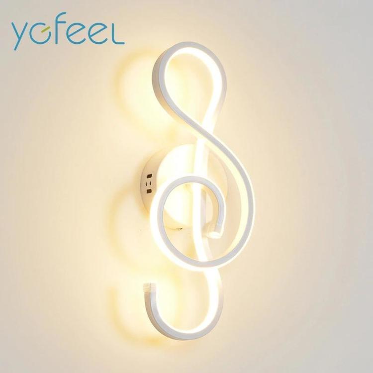 ygfeel Store - LED Wall Lamp Modern Bedroom Beside Reading Wall Light Indoor Living Room Corridor