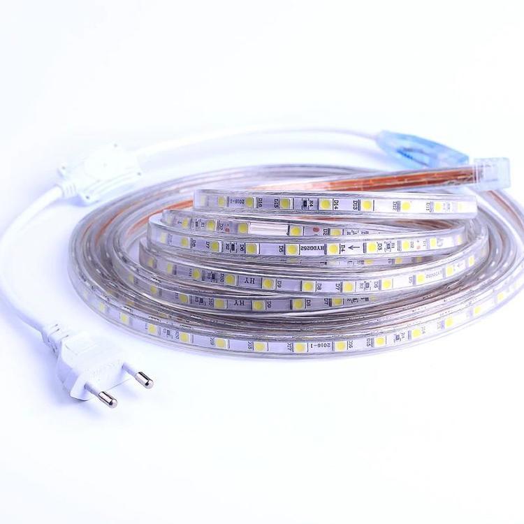 BZT Official Store - SMD 5050 AC220V LED Strip Flexible Light 60leds/m Waterproof Led Tape LED Light