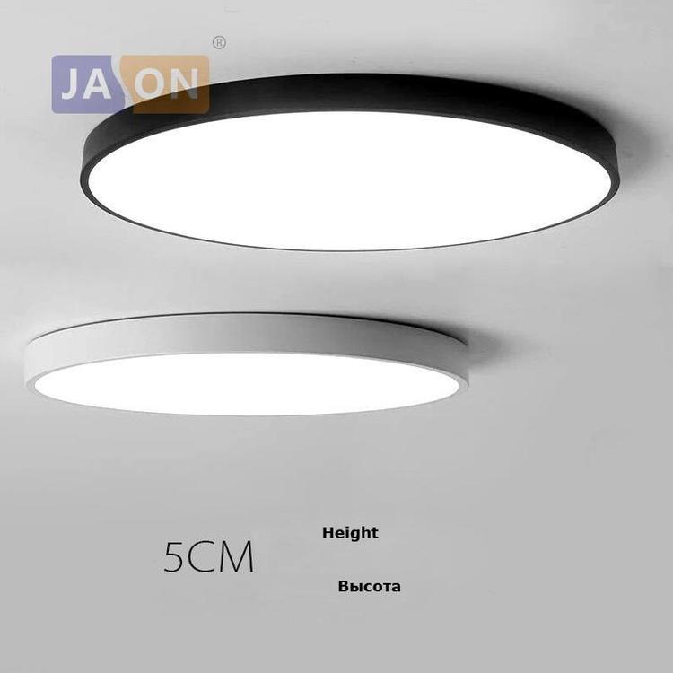 World Chandelier By Alijasonlighting Store - LED Modern Acryl Alloy Round 5cm Super Thin LED Lamp