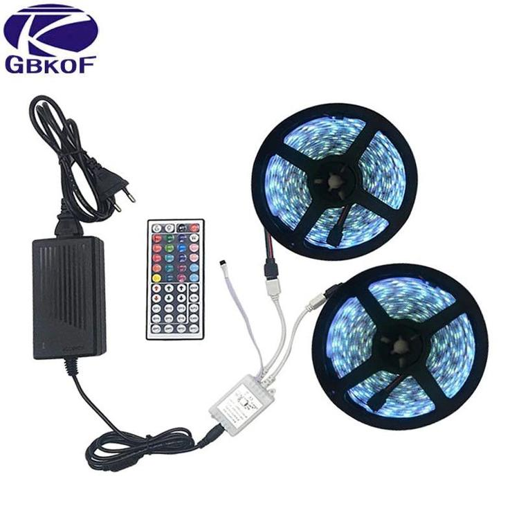 GBKOF Official Store - LED RGB strip light SMD 5050 Light 44key remote controller Power Adapter RGB