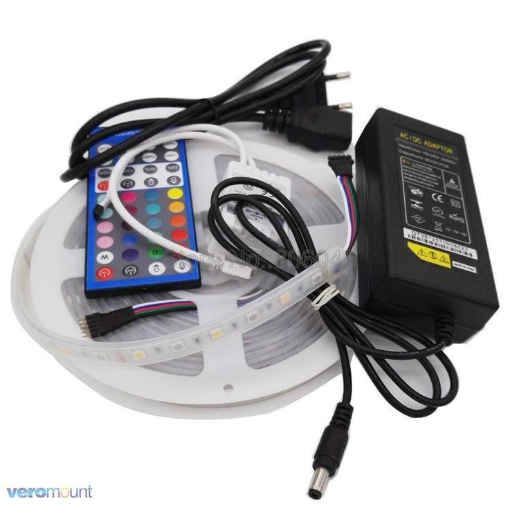 Joy-Deal - 5m 12V 5050 RGBW RGBWW LED Strip IP20 IP65 IP67 Waterproof Stripe Set + 2.4G RGBW Remote