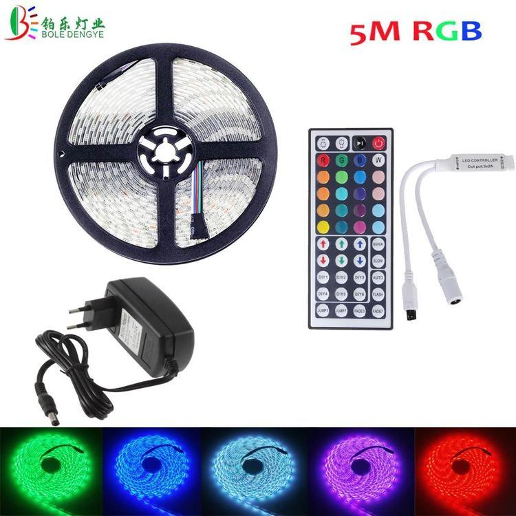 I-Living Store - RGB LED Strip 5050 5M 10M 2M 3M Waterproof Flexible Diode Tape 44Key IR Remote RGB