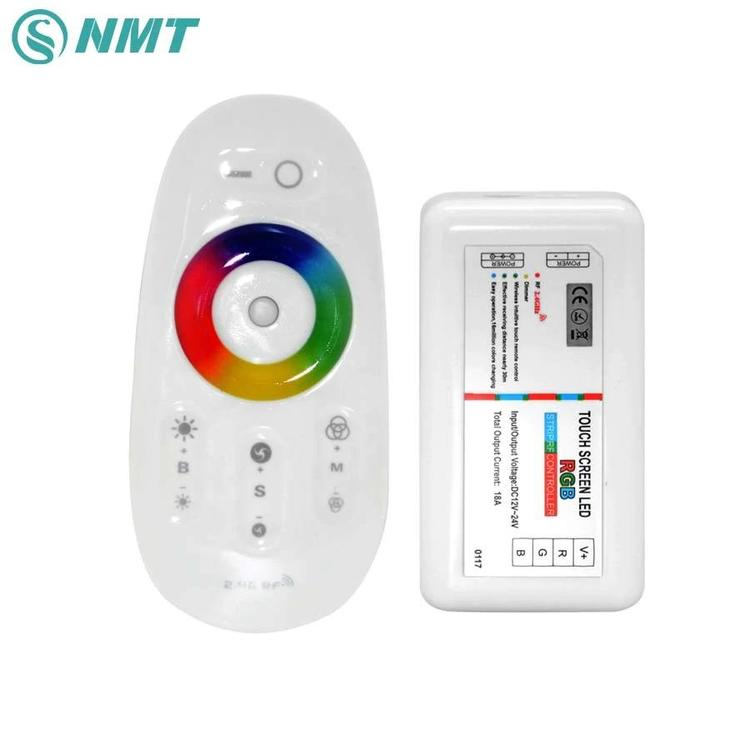 Green-Tek led lighting Co.,Ltd - DC 12V 24V RGBW OR RGB LED Controller 2.4G RF Touch Screen Remote