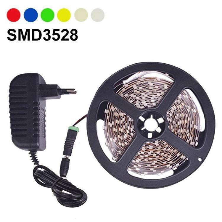 First Tech Co.,Ltd - LED Strip Light 5m 60LEDs/m Single Color 3528SMD Flexible LED Tape 12V Power Su