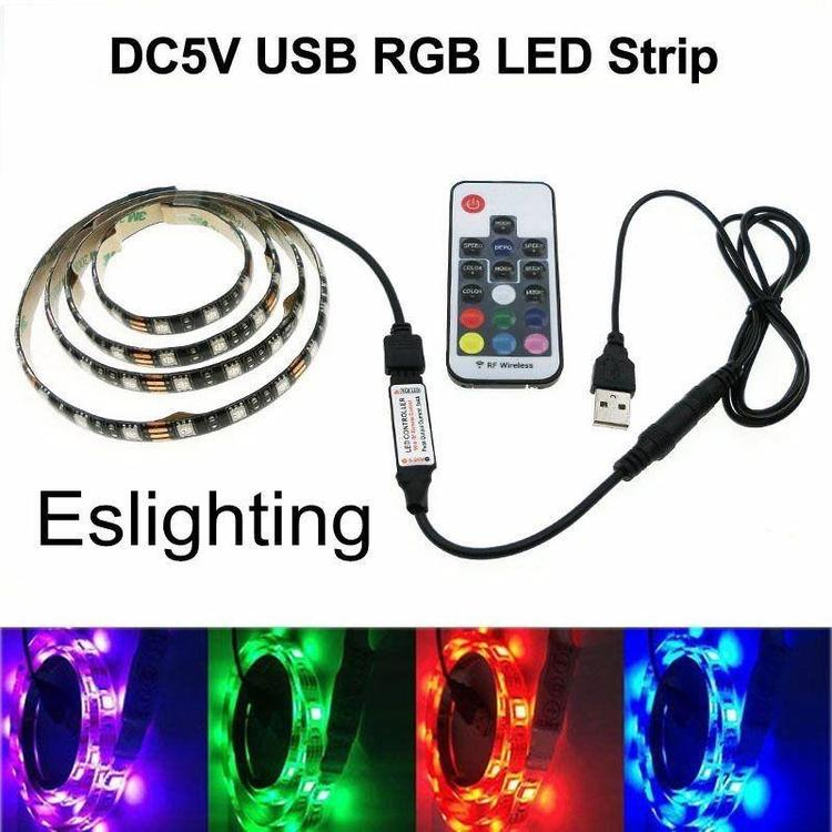 SuperLight Store - 5 v LED Strip DC 5V USB 5050 RGB Light Flexible PC TV backlight Background Light