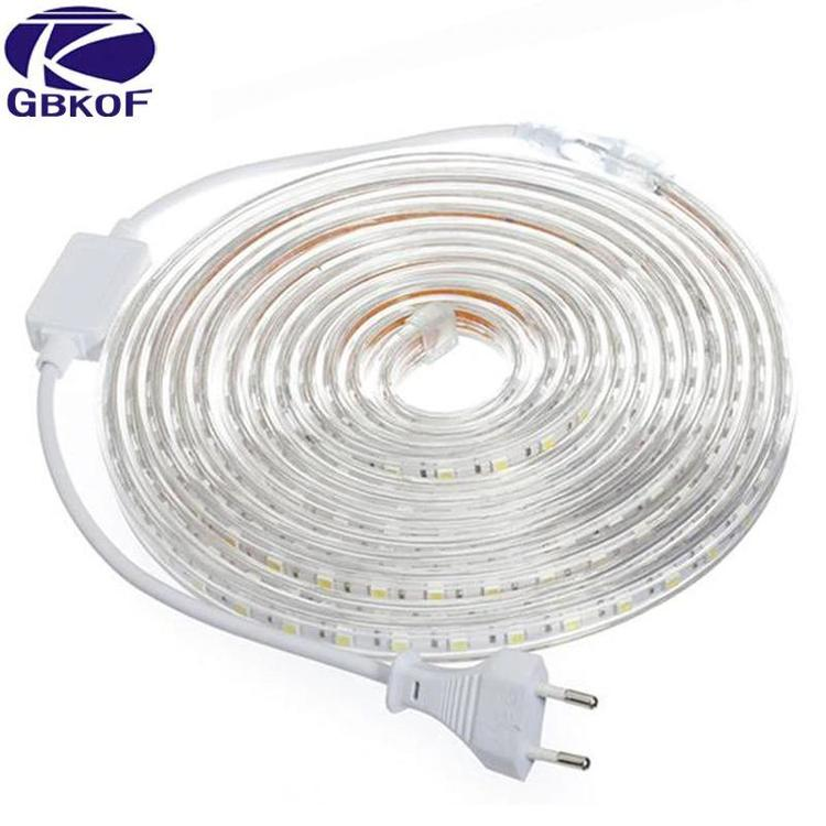 GBKOF Official Store - 220V LED Strip Light 5050 Waterproof IP67 230V Kitchen Outdoor Garden Lamp