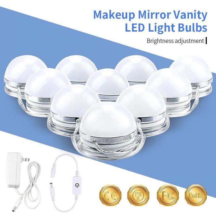 Shop3669027 Store - Makeup Vanity LED Light 12V 6 10 14 Bulbs Kit for Dressing Table Mirror