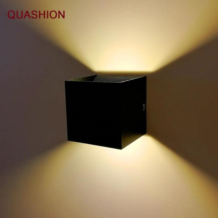 QUASHION housholds - Modern LED Wall Light 12W COB Aluminum Up Down indoor wall Mounted Cube Living