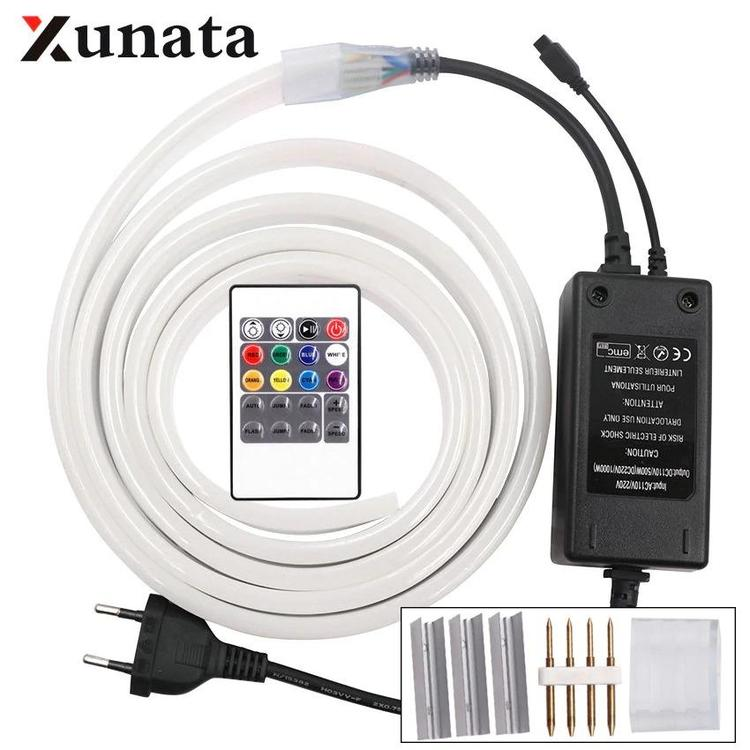 XUNATA Light-Life Discount Store - RGB LED Neon Strip 220V Dimmer Controller 2835 5050 Flexible