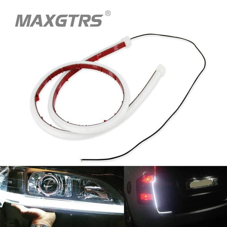 MAXGTRS Official Store - 2x 30cm 45cm 60cm DRL Flexible LED Tube Strip Style Daytime Running Lights