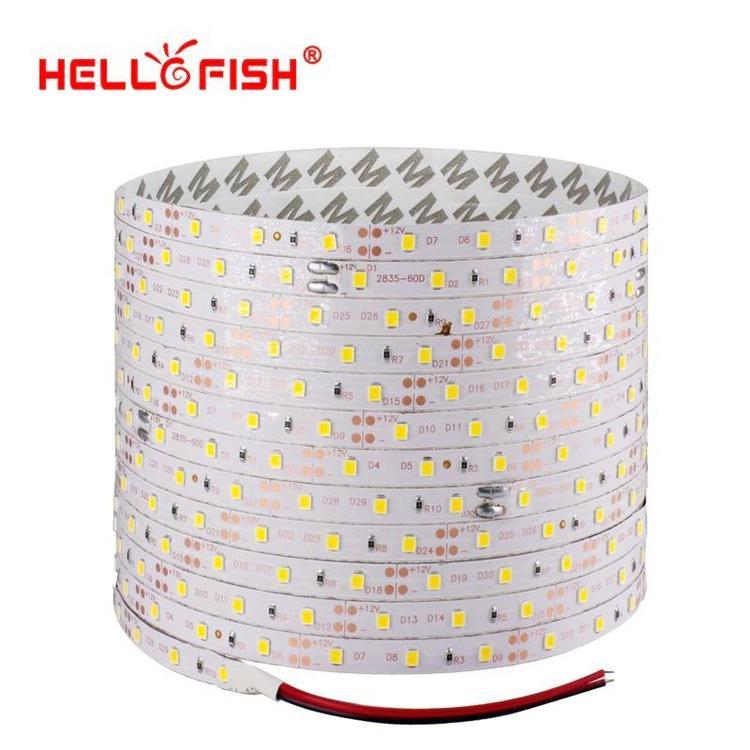 Hello Fish Official Store - 5m 300 LED 2835 SMD LED strip, 12V flexible light 60 led/m LED tape, RGB