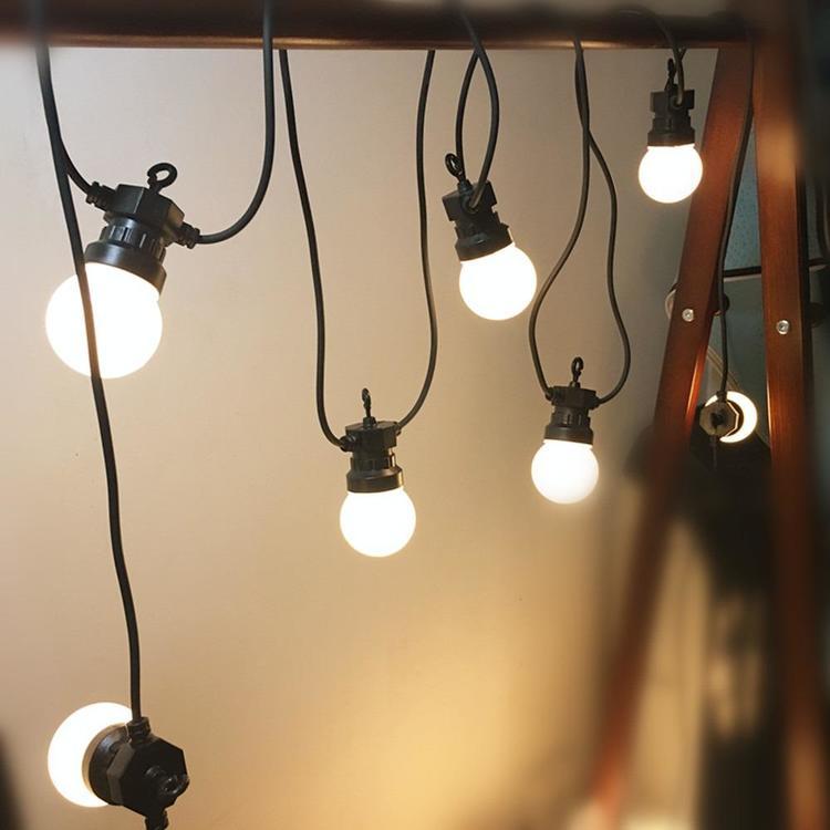 VNL Official Store - LED Milky Globe Ball String Light,LED Warm Garland String For Wedding Garden - christmas garland ×  garland lights × garland outdoors