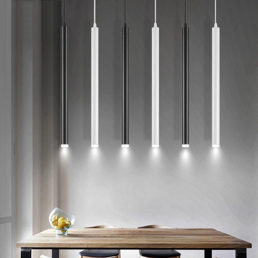 leje Store - led Pendant Lamp Long Tube light Kitchen Island