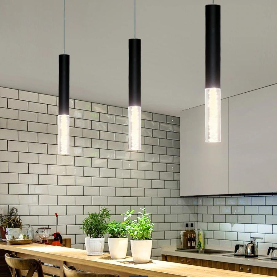 Luci Led Per Cucina leje store - led pendant lamp cylinder light kitchen island