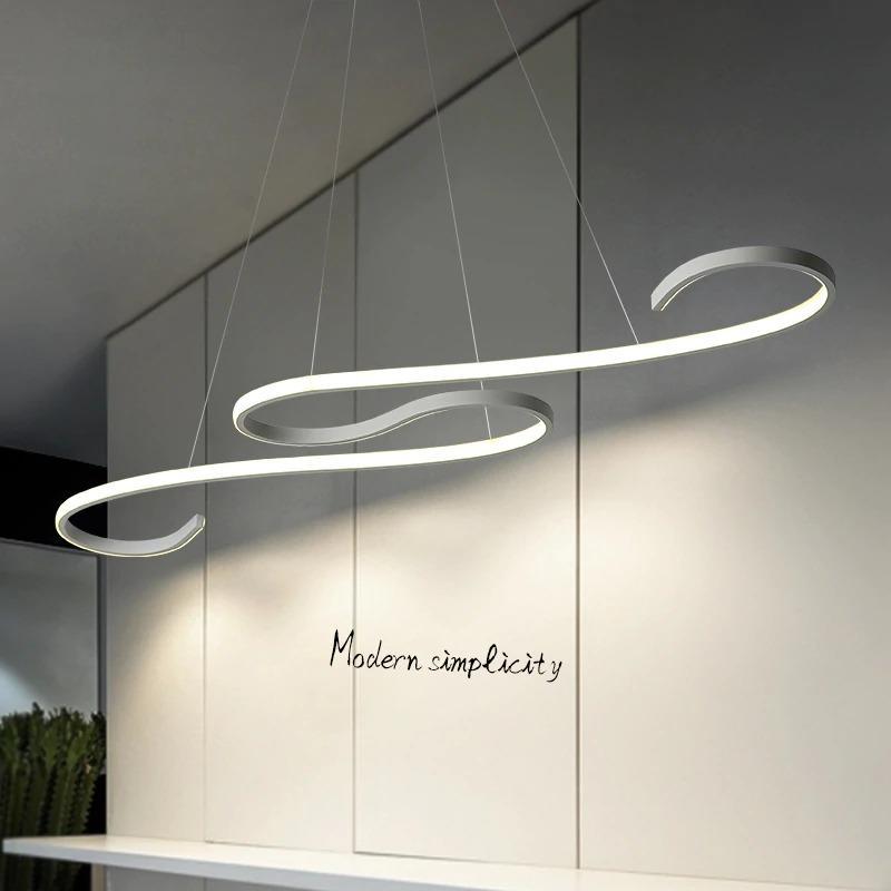 Elinna Store Black White Modern Led Pendant Lights For Dining Room Kitchen Room Bar Acrylic Pendant Lamp Fixtures Design Lighting Fixtures Lednews