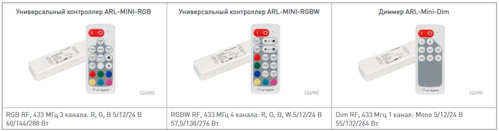 контроллеры rgb ×  контроллеры rgbw × контроллер для светодиодной ленты × диммер для светодиодной ленты