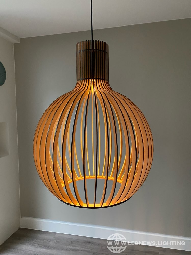 $136.00 - 216.00 Modern Black Wood Birdcage E27 bulb Pendant light norbic home deco bamboo weaving wooden Pendant lamp